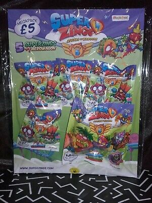 Superzings Series 5 Mega pack with 5 superzings & 1 aerowagon RRP  £5