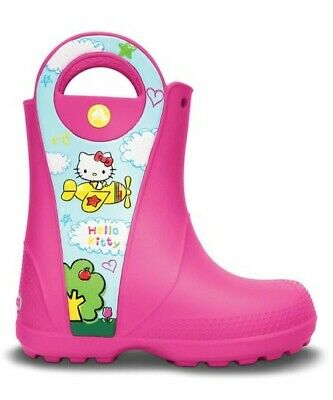 Crocs Hello Kitty Sanrio Toddler Girls 7C Pink Handle It Rain Snow Boots Youth