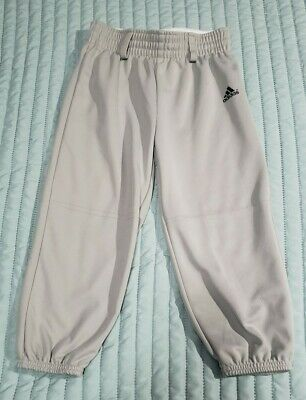 Adidas Baseball Grey Pants Youth Size XS Uniform Softball Boys Girls Climalite