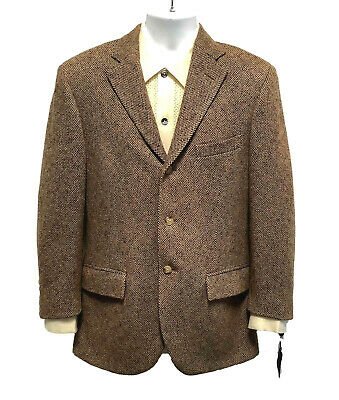 POLO Ralph Lauren Brown/Tan Tweed Wool Jacket Blazer Sport Coat Blue Label 38R