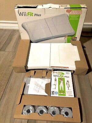 Nintendo Wii Fit Plus Bundle with Balance Board and Game New Open Box
