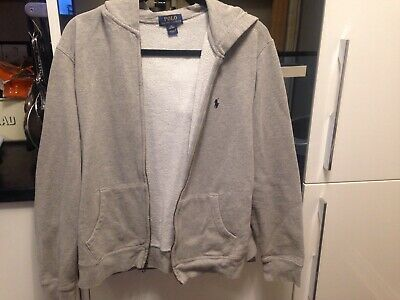 Teenage Boys Ralph Lauren Polo Zipped Hoddie Grey