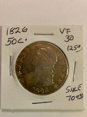 1826 U.S. Half Dollar Coin ICG VF 30 Value $125.00
