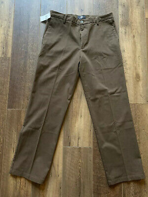 Dockers Signature Khaki Straight Fit D2 Flat Front Pants Size W32xL32 Gray NWT
