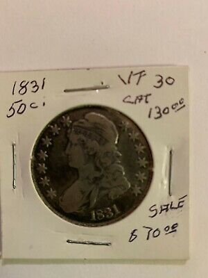 1831 U.S. Half Dollar Coin ICG VF 30 Value $130.00