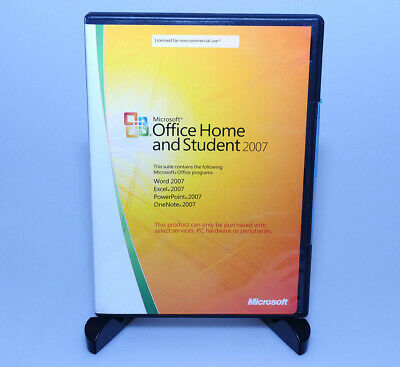 Microsoft Office Home & Student 2007 GENUINE retail 3user slim case Win7 8 10