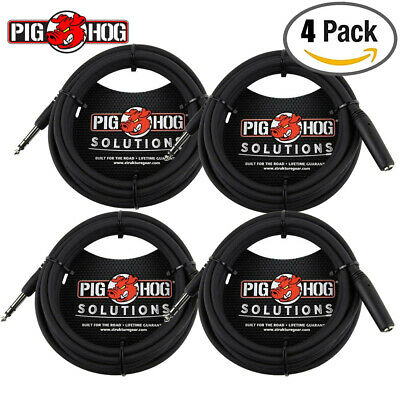 """PIG HOG phx14-25 SOLUTIONS 25FT HEADPHONE EXTENSION CABLE 1//4/"""" LIFETIME WARRANTY"""