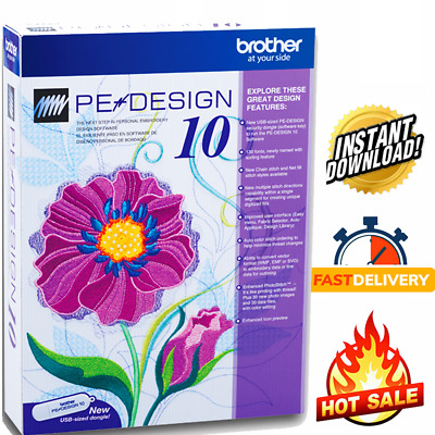 Brother PE Design 10 Embroidery Full Software | Free Gifts🔥🔥FAST DELIVERY🔥10s