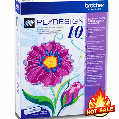 Brother PE Design 10 Embroidery Full Software | Free Gifts🔥INSTANT DELIVERY🔥🔥