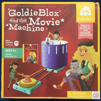 Goldie Blox and The Movie Machine Ages 6 Building Toy /& Book #3990
