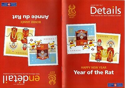 Canada Post Details Booklet: 2020 Year Of The Rat Stamps/Sheets, Coins Catalogue
