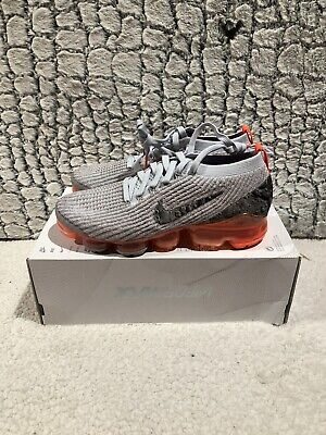 New Nike Air VaporMax 3.0 3 Flyknit Moon Landing Grey AJ6900-001 size 8 No Lid