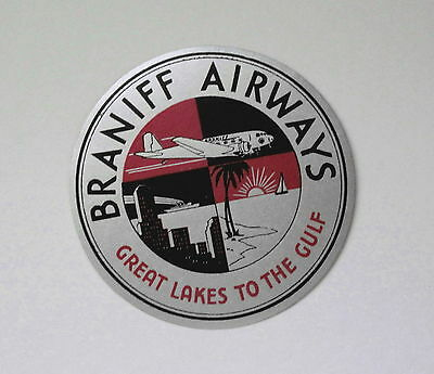 Braniff Airways Airline Luggage Baggage Label  -  free shipping