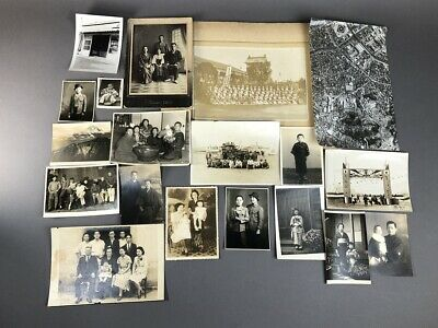 Collection of 19 Old Japanese MEIJI Prewar Postwar War Photographs