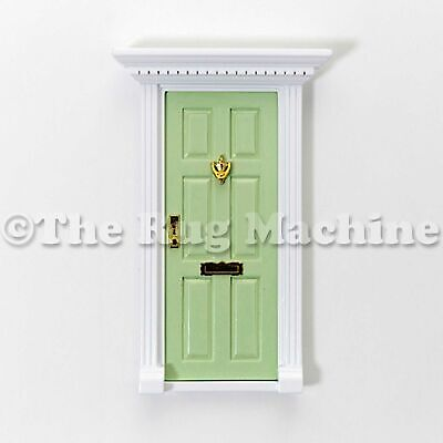 MAGICAL FAIRY DOOR - PALE GREEN Wooden Miniature Doll Size Aussie Company **NEW*
