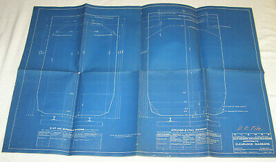 "Vint. Set Of 5-Delaware,Lackawanna+Western Railroad Blueprints-""Boston&Phil-1930"