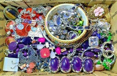 Nice Vintage-Now Jewelry Lot OVER 1.5 LBS!  Estate Finds Wearable Sellable #209