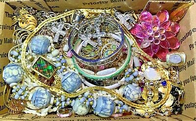 Nice Vintage-Now Jewelry Lot OVER 1.5 LBS!  Estate Finds Wearable Sellable #208