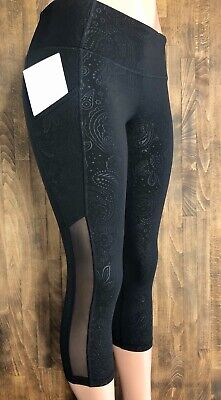 Old Navy Active Go-Dry Fitted Cropped Tights Size Small EUC