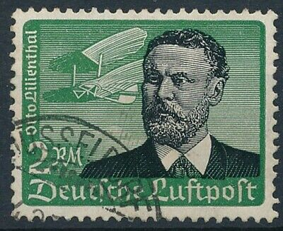 [2191] Germany 1934 good Airmail Stamp very fine Used Value $30