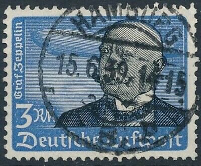 [2194] Germany 1934 good Airmail Stamp very fine Used Value $65