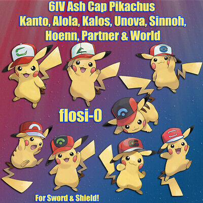 6IV Ash Cap Pikachu (All Regions) Events Poke Guide [Sword and Shield]