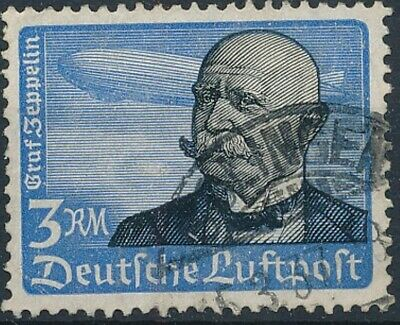 [2195] Germany 1934 good Airmail Stamp very fine Used Value $65
