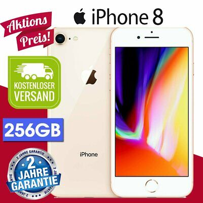 ☀️Apple Iphone 8 256Gb Gold Smartphone Handy Ohne Simlock Gold- Wow!!!