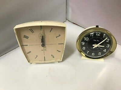 Vintage alarm Clocks Westclox, Metamec, Smiths