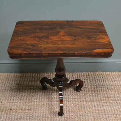 Spectacular Quality Rosewood Antique Victorian Occasional Lamp Table