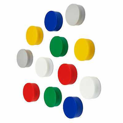 Super Strong Colourful Round Refrigerator / Whiteboard Magnets, Assorted Colours