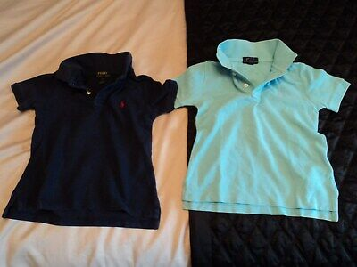 Two Kids Ralph Lauren. Navy/Turquoise Polo T Shirt's... Size Child's 3T