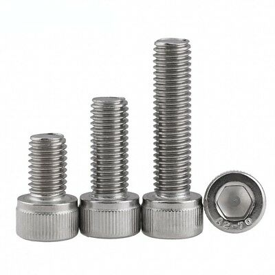M2.5 2.5mm A2(304) Stainless Steel DIN912 Allen Bolt Socket Cap Screws Hex Head