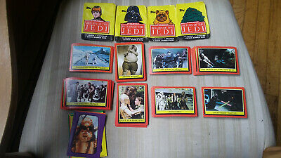 1983 Topps Star Wars Return of the Jedi Series 1 Starter Set 2 with Stickers