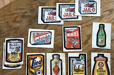 Wacky Packs 12 Stickers 1st Series 12 Cards (1973)