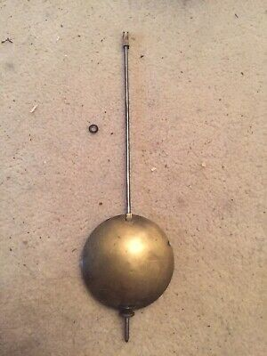 "Antique Marti French Clock Pendulum 7.75"" Long 2.25"" Diameter Bob"