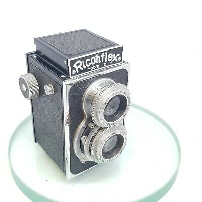 RARE Super Ricohflex TLR Camera, Ricoh 3.5/80mm Lens Model III TESTED GREAT #490