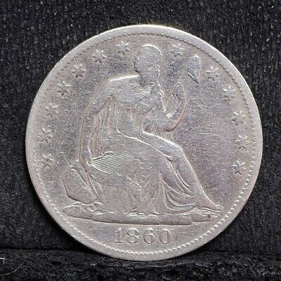 1860-O Liberty Seated Half Dollar - VG Details (#28693)