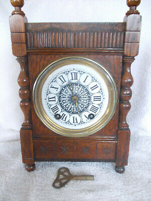 W & H  Sch Clock In Working Order , With A  Key, But Case Missing Some Pieces