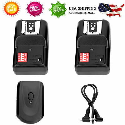 3Pcs 16 Channel Wireless Remote Flash Trigger Set for Canon Pentax Nikon DSLR US