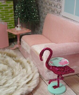 Pat Tyler Dollhouse Miniature Leather Top Table Stand p850