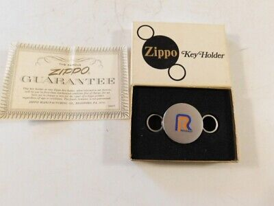 Rare Zippo Roadway Key Chain Box & Papers New Clean No Damage