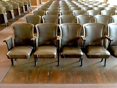 Antique 1920's HEYWOOD-WAKEFIELD Church/Theater Row Chairs Sets of 4