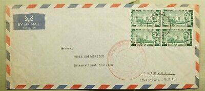 Dr Who 1963 Ethiopia Addis Ababa To Usa Block Air Mail C165704