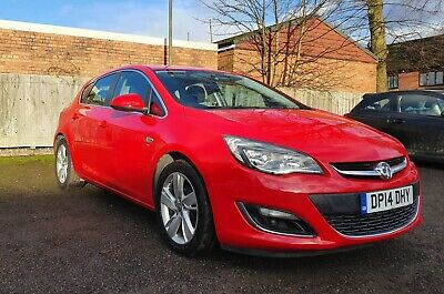 Vauxhall Astra 2014 SRI TURBO 1.4 petrol iVVT 16v 5 doors Red