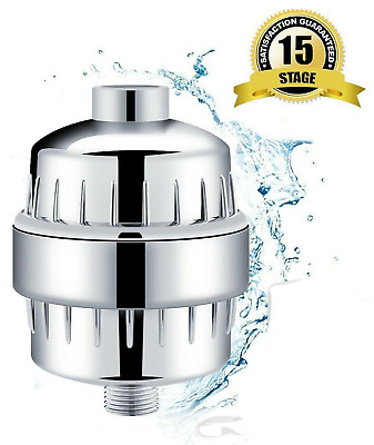 1-3pk Luxury 15 Stage Shower Filter w/ Vitamin C for Hard Water Remove Chlorine
