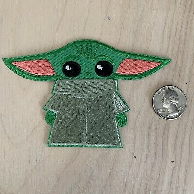 Disney Mandalorian Baby Yoda BIG the child Embroidered patch iron on Applique