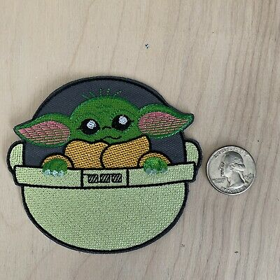 Disney Mandalorian Baby Yoda the child Embroidered patch iron on Applique