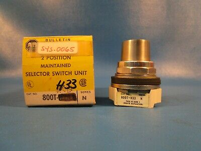 Allen Bradley, 800T-H33 SELECTOR SWITCH 2-POSITION, MAINTAINED, 30MM