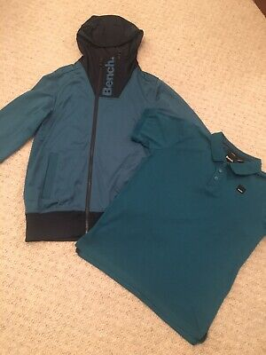 Boys Bench Hoodied Jacket And  Matching Polo Age 10-11 Hardly Worn!
